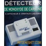 Detecteur de monoxyde de carbone affichage ecran LCD