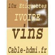 10 Feuilles Ivoire autocollantes, Adhésif Bouteille vin
