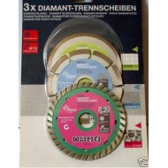3x Disque Diamant SEGMENTE turbo continu 110mm