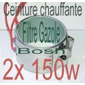 Réchauffeur ceinture chauffante 1x200w filtre a Gazole, biodiesel