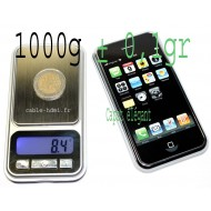 1000g ± 0,1g Mini Balance electronique monnaie iphone IPS300