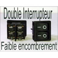 Interrupteur double 12v 220v