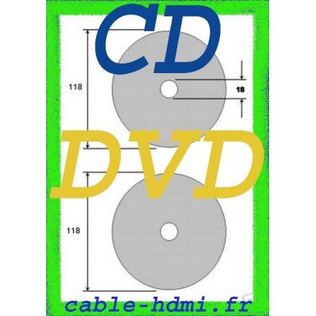 50 Etiquettes autocollan?tes, Adhésif Pour DVD CD laser