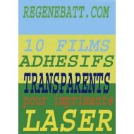 Film Transparent Autocollant Adhésif A4 Spécial Laser