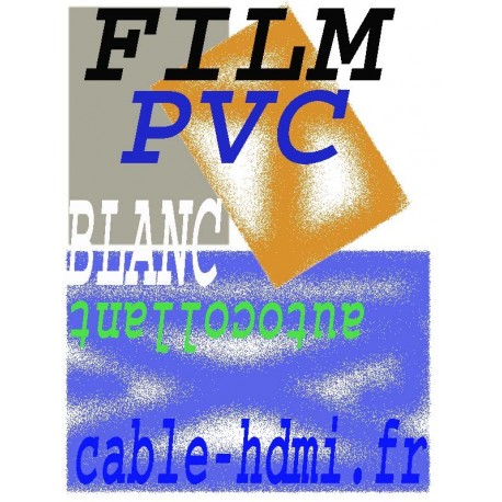 10 Films adhésifs Blanc en PVC A4 Autocollant Laser