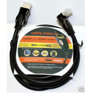 Cable HDMI Angle droit 1.3 Or 24k DVD XBOBX 0,5m/1m/1,5m/2m