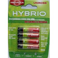 Piles rechargeables Uniross AAA Conserve Charge 1 an (x4/x8)