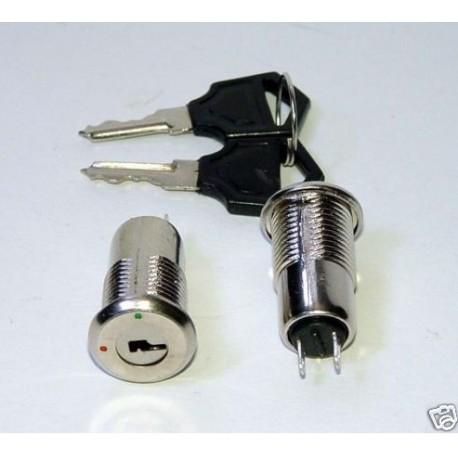 Interrupteur contacteur à clé de contact 250v 12v 24v (2 modèles)