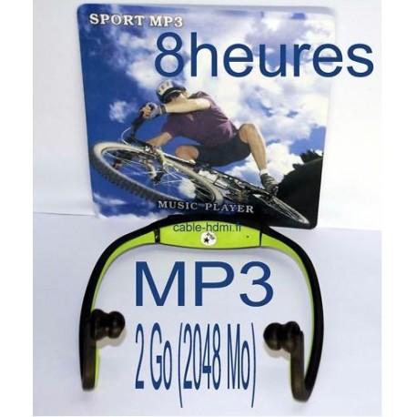 Lecteur Casque MP3 Autonome Sport 33 Heures